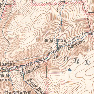 1944 USGS topo map, 1927 Survey, Canton quadrangle
