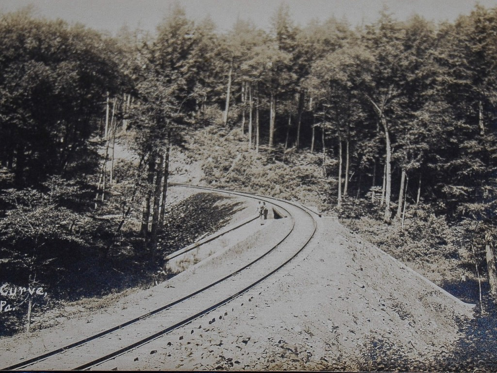 Postcard view of Loop Curve near Masten, PA ca. 1906